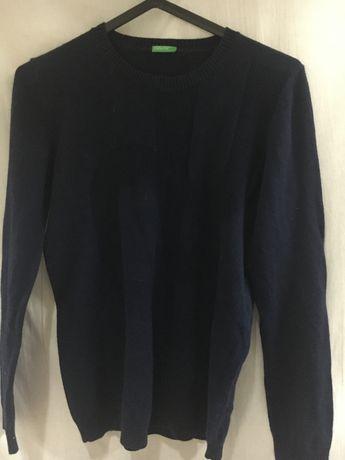 Camisola azul em malha BENETTON 2XL menino
