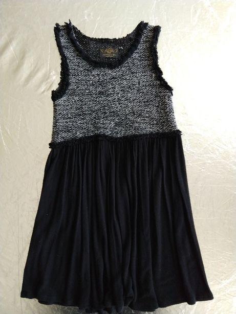 сукня Mango s дитяча 7-8р р.128 чорна срібна