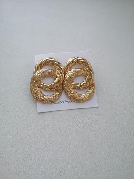 Золотые серьги серёжки бижутерия аксессуары кольца