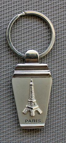 Porta-chaves em metal com Torre Eiffel e inscrição Paris (NOVO)