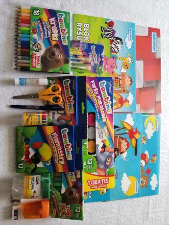 Wyprawka szkolna zestaw dla dzieci kredki Bambino