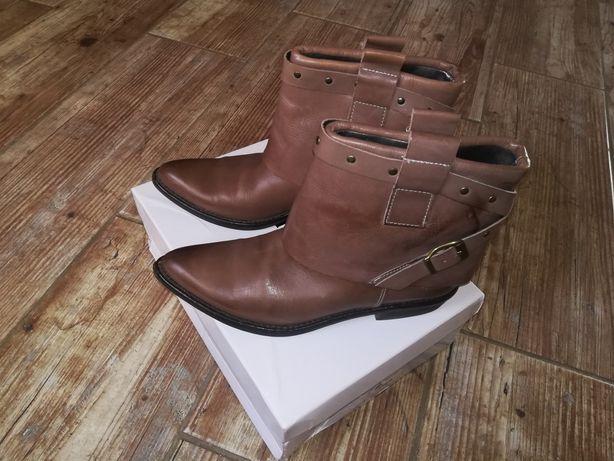Шкіряні черевики, черевички, ковбойки, ботинки, сапоги полусапожки