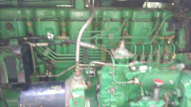 Części silnika John Deere 1188 model silnika 6466 wał,blok,pompa.