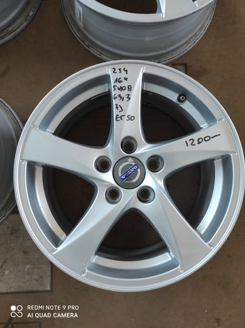 254 felgi aluminiowe ORYGINAŁ VOLVO R16 5x108 otwór 63.3 bardzo ładne