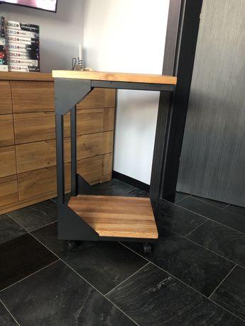 Stolik pomocniczy, boczny, loft, Indiustrialny, Naturalne drewno
