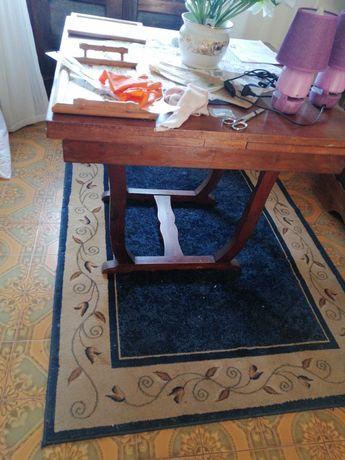 Mesa de madeira maçica extensível