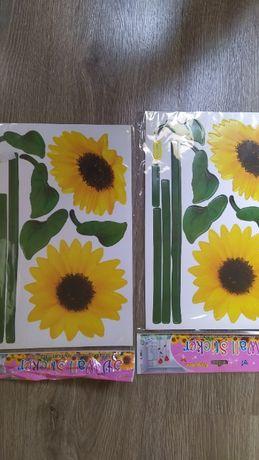Naklejki ozdobne na ścianę meble słoneczniki
