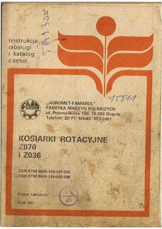 Katalog części kosiarka Rotacyjna Z070 i Z036