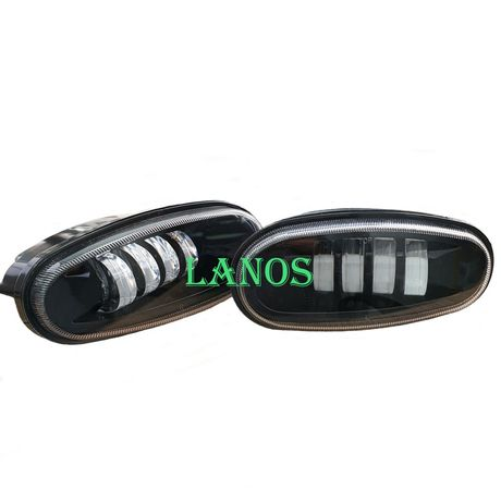 Led противотуманки ПТФ Lanos Ланос туманки Сенс Sens 40 Вт и 50Втс СТГ