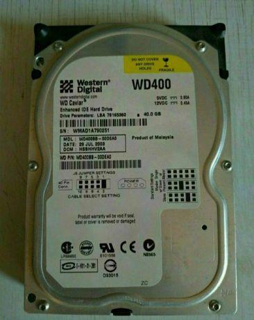 Жёсткий диск на 40 Гб.,фирма Western Digital.