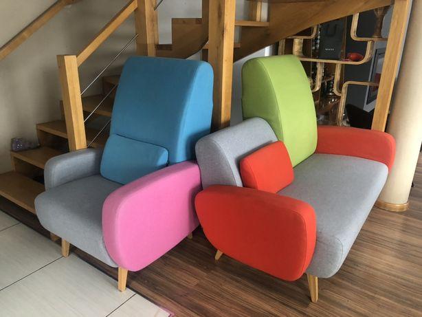 Prl, ikea Noti komplet sofa + fotel vintage retro