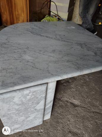 Stół kawowy marmurowy Bianco Carrara