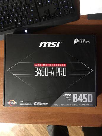 Материнская плата MSI B450 A-PRO AM4 boost М2