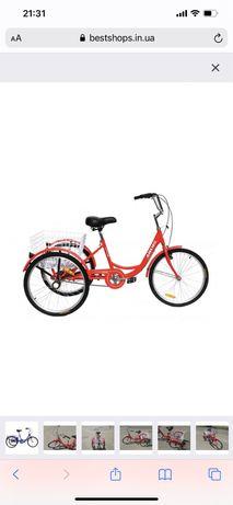 Велосипед грузовой велорикша городской взрослый 3х колесный