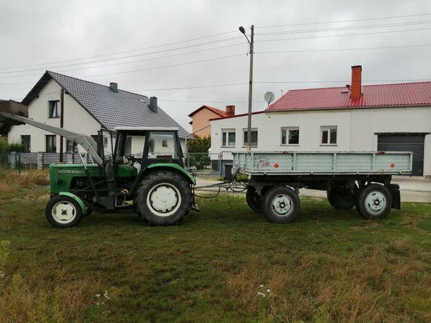 Traktor, ciągnik rolniczy + przyczepa wywrotka