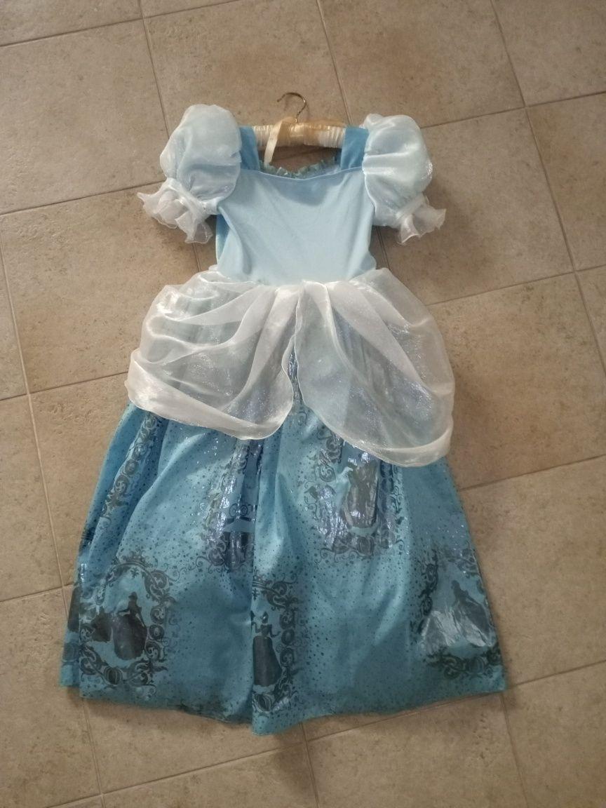 Vestido da princesa Cinderela Disney 9-10 anos