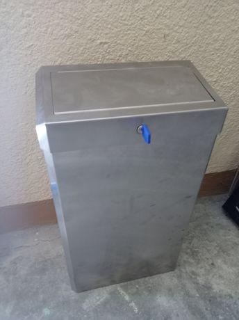 Merida kosz na śmieci + pojemnik na ręczniki pojedyncze stal matowa