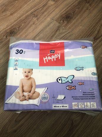 Десткие пеленки Happy 60*60 новые одноразові дитячі пелюшки