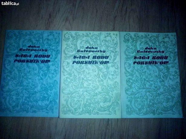 """Saga rodu Forsyte'ów"" cz. 1,2,3, J. Galsworthy,"
