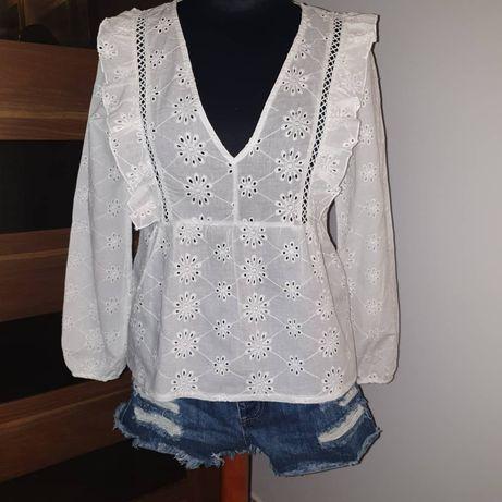 Biała ażurowa bluzka Nowa
