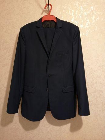 Мужской свадебный синий костюм