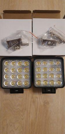 Светодиодная лед фара LED 16 48W комплект 2 штуки мтз юмз Т-150