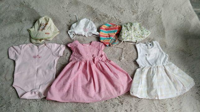 Sukienki r.3-6 m+gratisy