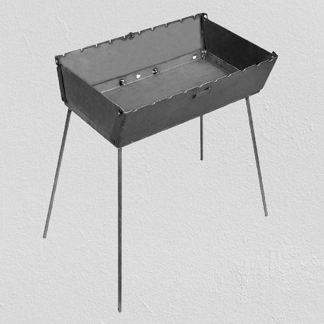 Мангал - чемодан на 10 шампуров 570х350х160мм (2мм)