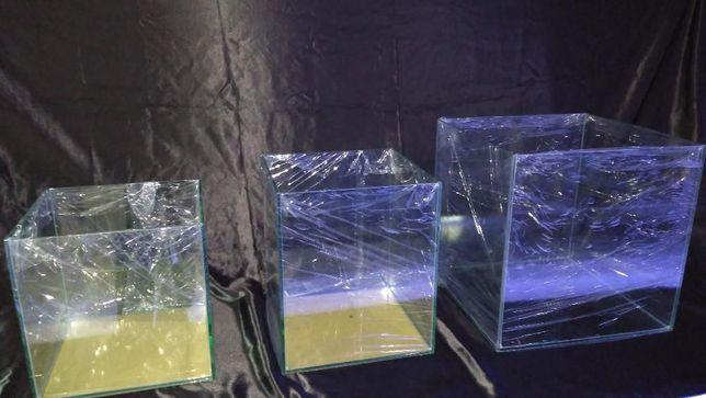 Aquario cubo 30x30x30 em vidro 6mm novo