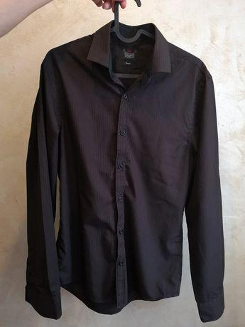 Koszula męska czarna brązowa river island M L