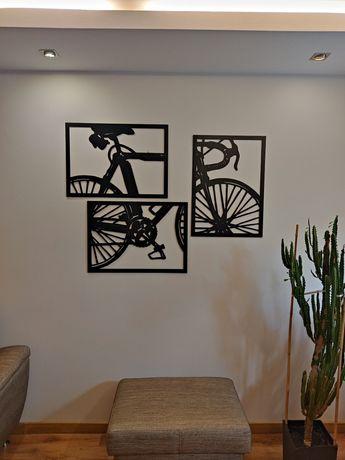 Obraz ażurowa dekoracja 3d tryptyk Rower