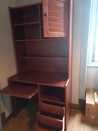 Estante Biblioteca com armário e gavetas
