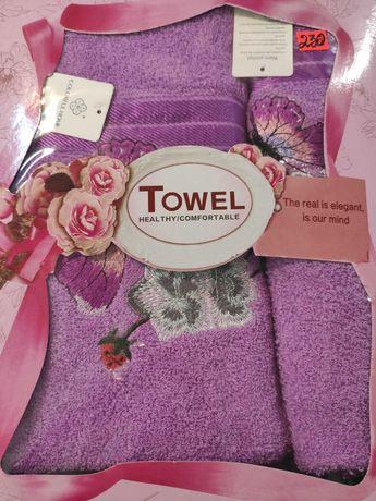 Набор полотенец 100% хлопок банное, для лица подарочная упаковка