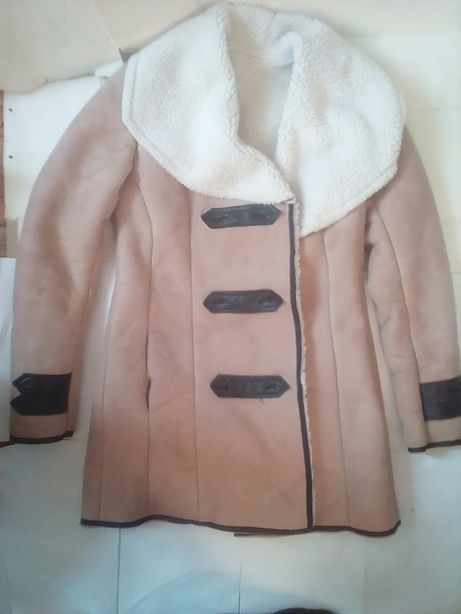 Дубленка полушубок шуба куртка кожа кожаная телогрейка куртка овчина