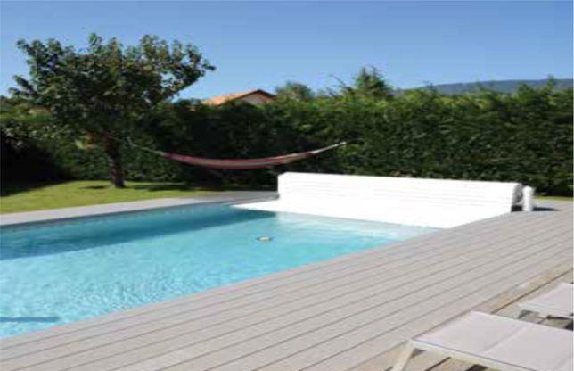Cobertura de Segurança piscina Open classic laminas cinza escuro 3x4m