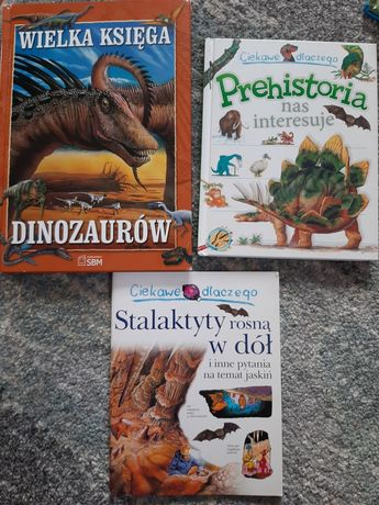 Wielka księga dinozaurów + Prehistoria nas interesuje + gratis