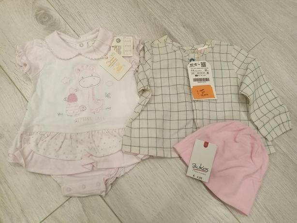 Пакет вещей на девочку 1-3 62см Zara,mothercare, ovs