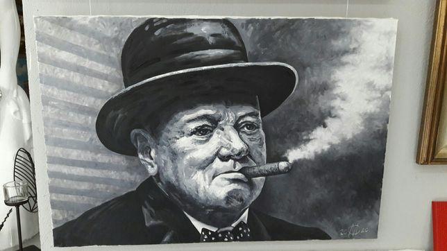 Картина маслом Уинстон Черчилль