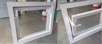 Inwentarskie okna PCV z podwójną szybą białe/kolor WYSYŁKA Okazja!