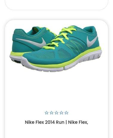 Кроссовки Nike Flex 2014 run размер 38.5 39 кросы кросівки бирюзовые