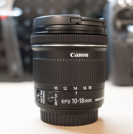 Объектив Canon 10-18mm STM (16300 рублей)