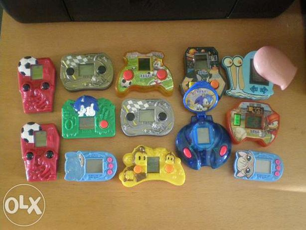 25 Consolas variadas dos menus happy meal