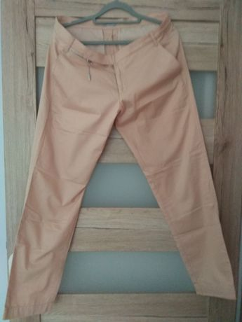 Spodnie morelowe  nowe