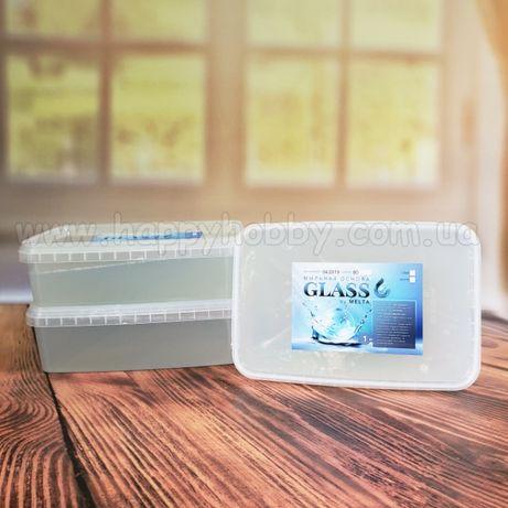 Основа для мыла Glass Clear в контейнере на 1 кг, прозрачная или белая