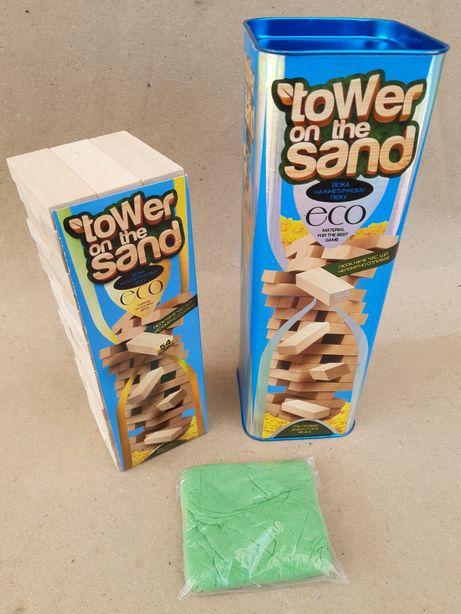 Настольная игра Дженга, Вежа на кінетичному піску