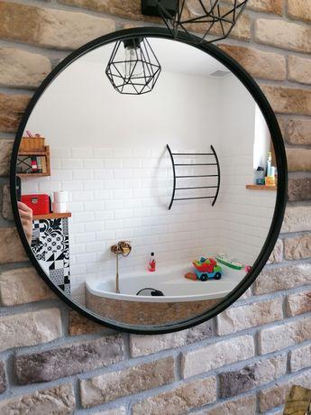 Lustro łazienkowe okrągłe czarne