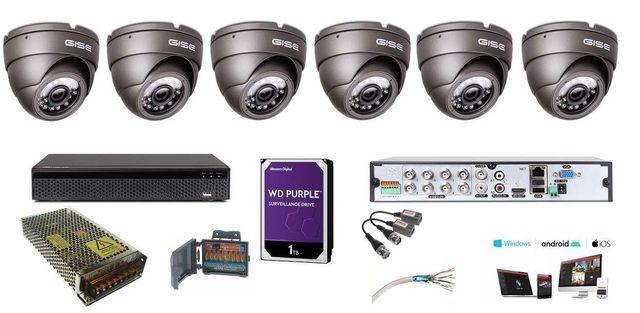 zestaw kamer 4-16 kamery 5mpx UltraHD monitoring montaż kamer Sobolew