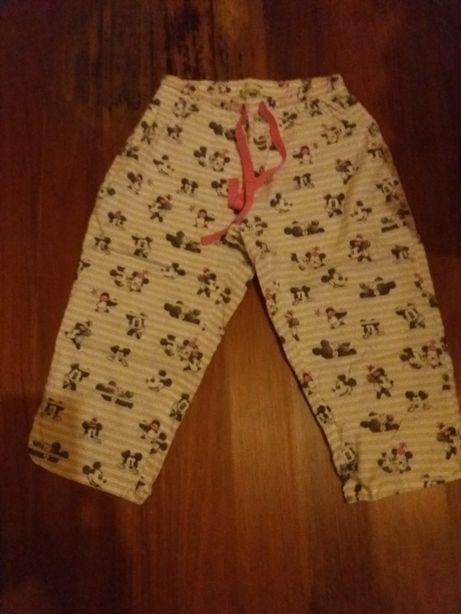 Calça de pijama corsário do Mickey tamanho XS