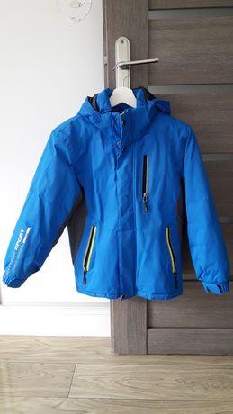 kurtka dla chłopca z kapturem niebieska 140cm