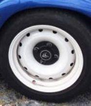 Jantes 14 alargadas com pneus novos Peugeot/citroen